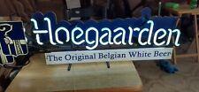 Vtg Hoegaarden Belgium Beer Led Neon Light Sign Bar Club Man Cave Great ! Rare.