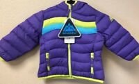 NEW!! Snozu Girl's Plum/Lime/Blue Ultra-Clean Hypoallergenic Insulation Down