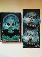AION - Complete CIB Steelbook - 2 Discs - PC DVD-Rom Computer Game