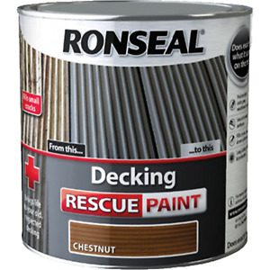 Ronseal RSLDRPC5L 5 Litre Decking Rescue Paint - Chestnut