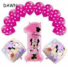 Minnie Mouse Disney 1st BirthDay  Balloon 13 Foil Balloon bundle. Pink. Girl