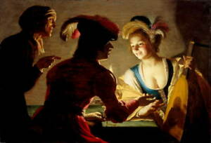 Gerard van Honthorst The procuress Poster Reproduction Giclee Canvas Print