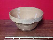 Vintage RRP Co. Stoneware Mixing Bowl Mustard Glaze Beautiful Sunrise Pattern