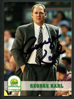 George Karl #254 signed autograph auto 1993-94 Hoops / SkyBox Basketball Card