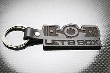 "Subaru BRZ ""LET'S BOX"" Leather Keyring, Keychain Schlüsselring Porte-clés GT86"