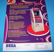 PRINT CLUB By SEGA ORIGINAL NOS PHOTO BOOTH GAME MACHINE PROMO SALES FLYER