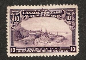#101 - Canada - 1908 - 10 Cent - Used cv $200 as VF *see notes- superfleas