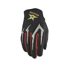 M Medium Rockstar Mesh Vented MX Gloves Motorbike BMX Black Red