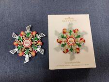 Hallmark Christmas Ornament, Savory Snowflake, 2011
