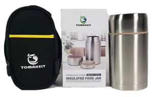 TOMAKEIT Stainless Steel Insulated Food Jar With Tote Bag 800ml/28oz Portable