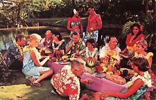Postcard Hawaiian Luau United Airlines