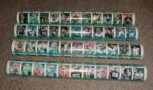 Lot-4 MINT 1990 Topps Football Cards Uncut 132 Card Full Sheets All Different