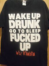 WIZ KHALIFA men's graphic  t shirt go to sleep FXXXED UP L black