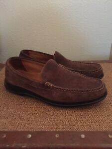 Mens Cole Haan Brown Suede Leather Slip On Shoes Size 7.5
