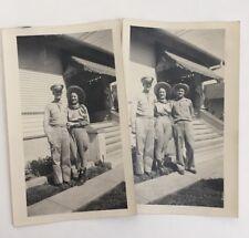 Vintage WWII Era Photos U.S. Military Air Force Pilot Posing Woman and Man 1942