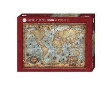 PUZZLE 3000 PIÈCE ANTIQUE CARTE HY29275 - Heye Puzzles - Le Monde