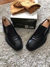 Mezlan Men's Stitched Toe Black Leather Slip On Loafer Dress Shoe 10.5