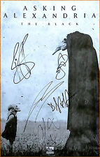 ASKING ALEXANDRIA The Black Ltd Ed Signed By All 5 RARE Poster +FREE Sticker!