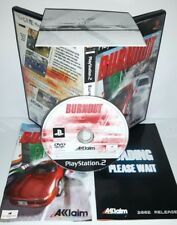 BURNOUT MACCHINE AUTO CORSE - Playstation 2 Ps2 Play Station Bambini Gioco Game