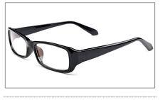 BLACK FRAME RETRO Geek Nerd Non Prescription Vintage Clear Lens Eye Glasses