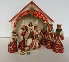 Jim Shore - Red/gold Mini Nativity Set