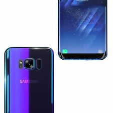 Mirror Hard Back Case For Samsung Galaxy S7 S8+ Blu Ray Gradient Colour Cover