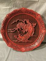 The Five Perceptions of Weo Cho TOUCH Cinnabar Decorative Plate