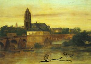 Kunstpostkarte -  Gustave Courbet:  Blick auf Frankfurt