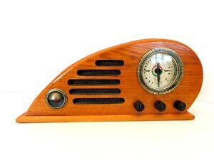 VINTAGE OLD CROSLEY COLLECTORS SERIES ANTIQUE CLIMAX RUBY AM-FM ART DECO RADIO