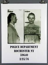 David Bowie, Rare Mug Shot Poster, Rochester NY Police Department, Ziggy 18x24""