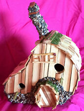 """Hilltop Clover"" Bird House by Sonoran Art Hobbit Style Whimsical Woodland look"