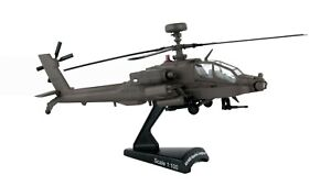 Postage Stamp 5600 Hughes AH-64D Apache Longbow Helicopter 1:100 Scale Diecast