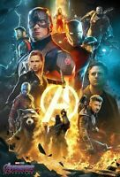 Art Avengers Endgame L-W Canvas Poster Movie Film MCU End Game 2019 P-366