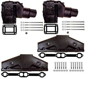 5.0 5.7 L GI GXI V8 Volvo Penta Exhaust Manifold package w/ risers gaskets bolts