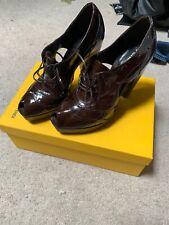 Fendi Leather Navy Blue Sandal High Heel Brand New Size 7