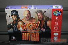 WCW Nitro (Nintendo 64, N64 1996) FACTORY SEALED! - EXCELLENT! - RARE!