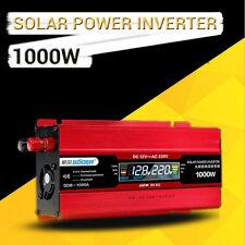 1000W de CC a 12V de CA 220V LCD Pantalla Digital Auto Power Inverter adaptador convertidor