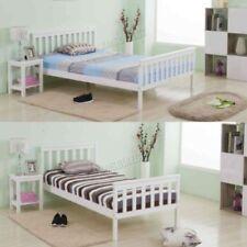 Cadres de lit et lits coffres blanche moderne en pin pour la maison