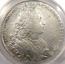1727 Peter II Russia Rouble Coin 1R - ANACS VF30 Details - $1,500 Value in VF