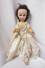 Vintage 1950's Sleepy Time Fashion Doll w Satin Dress 18""
