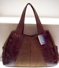 Jody Coyote PURSE Handbag ALDER LGTote Brown FAUX Suede * FREE USA SHIPPING