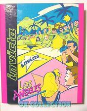 QUADERNO AD ANELLI VINTAGE A5 _ INVICTA LOS ANGELES anni '80 (preppy paninaro)