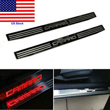 Red LED Light Door Sill Scuff Plate Cover for GM Chevy Chevrolet Camaro 2010-15