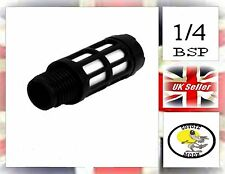 Plastic Pneumatic Air Silencer 1/4 bsp.  Muffler, valve.Noise Reducing UK SELLER