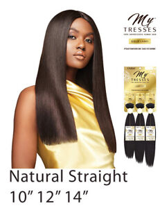 """Natural Straight 10""""12""""14"""" Outre My Tresses Gold Label  Unprocessed Human Hair"""