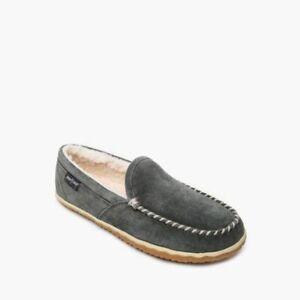 Minnetonka Men's Tilden Moc Indoor/Outdoor Suede Slippers 41005 - Grey M/W