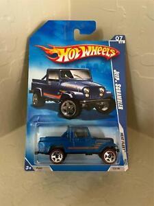 2009 Hot Wheels Heat Fleet Jeep Scrambler Blue Redlines 123   V6