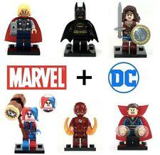 Marvel Avengers Lego Mini Figures DC Super hero Big Figs Thor Batman Iron Man