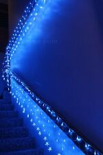 600 LED Blue Net Lights with Stars Waterfall Functions & Memory 20M X 0.4M
