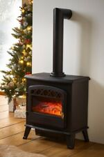 Electric Stove Fire Heater With Chimney Fireplace LED Log Flame Effect